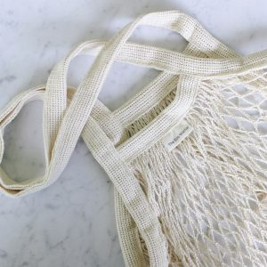 Organic Cotton Netted Tote Bag