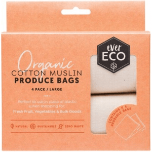 organic cotton muslin produce bag