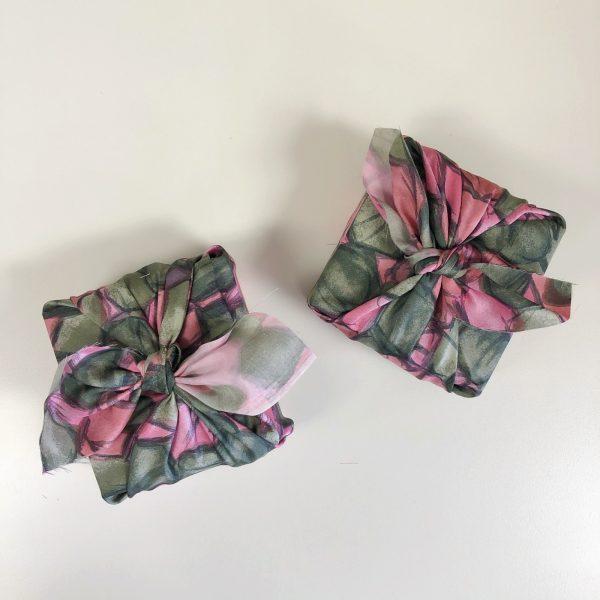 Reusable Pink-Green Gift Wrap (Medium)