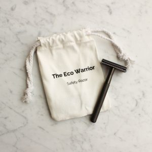 Charcoal Safety Razor with Replacement Blades