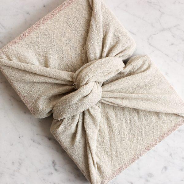 Reusable Sand Linen Gift Wrap: