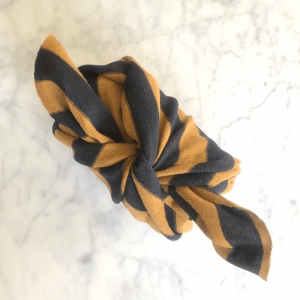 Reusable Mustard Stripe Gift Wrap