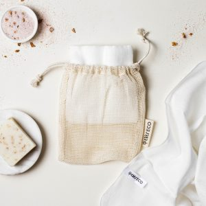 Ever Eco Muslin Facial Cloths With Cotton Wash Bag - 2 Pack